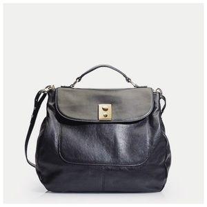 J. Crew Rigby Pebbled Leather Traveler Hobo Bag